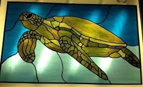 stain glass turtle sea turtle stained glass panel stained glass turtle lamp pattern