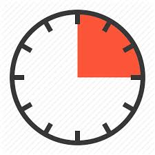 Fifteen Minutes Timer 15 Min Clock Fifteen Minute Quarter Timer Icon