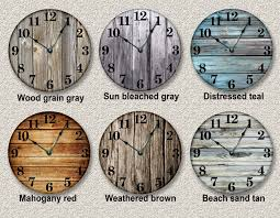 Country Kitchen Wall Clocks Wood Clock Etsy