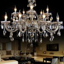 mesmerizing chandelier lampshades full of crystal and light a candle in the living room