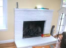 painting fireplace white painting red brick fireplaces