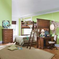 bedroomastonishing solid wood office. Bedroom : Astonishing Little Boys Design With Brown Wooden Varnished Bunk Beds Fitted Stair On The And Computer Desk Under Bedroomastonishing Solid Wood Office