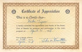 Certificate Of Appreciation Text The Michael Tigar Archive Certificate Of Appreciation From