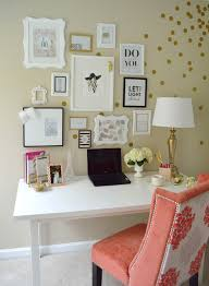 office space decor. Lydia Lynn\u0027s Polka-dotted And Cheerful Home Office {Office Tour Space Decor