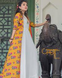 Vastra Designer By Palak And Santa Yellow Elephant Dress Is Designed By Vastra Designer By
