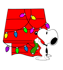 Cut Designs :: Snoopy on House with Christmas Lights Cut Design