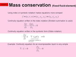 continuity equation physics. 8 mass conservation continuity equation physics