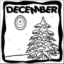Clip Art Month Graphic December B W I Abcteach Com Abcteach