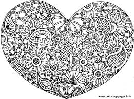 Small Picture Print adult mandala heart love 2016 Coloring pages Adult