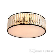 modern american crystal ceiling chandeliers lamps round black led ceiling chandelier lights ceiling lighting fixtures for home decorations glass chandeliers