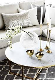 cute marble and gold coffee table