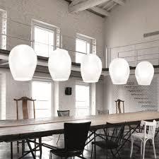 designer white glass pendant lights