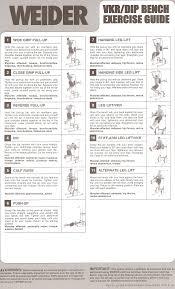 Weider Pro 9635 Exercise Chart Wieder Pro Home Gym Weider
