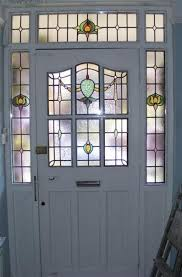 house entrance interior stained glass