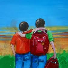 my painting of twin brothers from my children s book timothy s