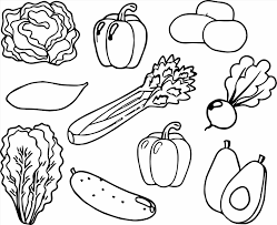 Small Picture And Vegetables Coloring Book With Printable Fruit Pages Vegetable