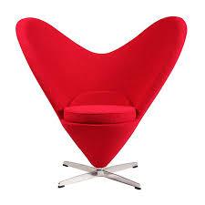 replica verner panton heart cone chair place furniture