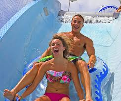 guests on first drop schlitterbahn south padre island waterpark
