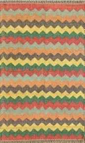 chevron jute rug multi colors wool with border