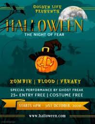 Flyer Design Free Customize 2 300 Halloween Flyer Templates Postermywall