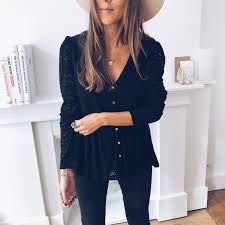 Audrey black blouse