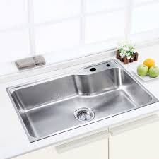 304 large capacity single bowl kitchen sink