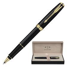 <b>Ручка</b>-<b>роллер PARKER</b> Sonnet Lacquer GT, корпус черный лак ...