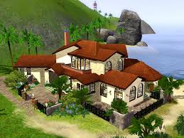 Perfect Mod The Sims Spanish Beach Front Home. Stylish Spanish Style Beach House ...