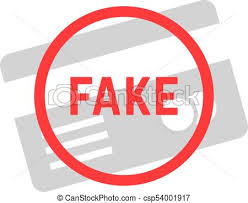 Background Style Error Vector Not Valid Clone Authentication Concept Sham Fail Illustration E-commerce Card Design Logo Secure Flat Caution On White Fake Lie Plastic Of Id Hacker Simple