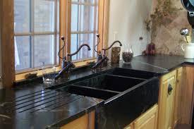 black triple bowl kitchen sink