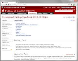 occupational outlook handbook bureau of labor statistics  prior to redesign