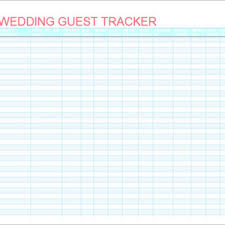 Sample Wedding Guest List Tracker And Planner Template : Helloalive