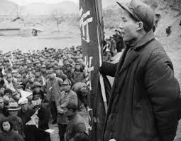 mao zedong biography facts com mao zedong addressing a group of his followers in 1944