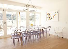 bentwood dining chair. Sun Filled Dining Room With Wall To Sliding Patio Doors Transom Windows Framing A Sawhorse Based Table Lined Lilac Bentwood Chairs Chair