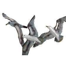 white elegance seagull flock wall art