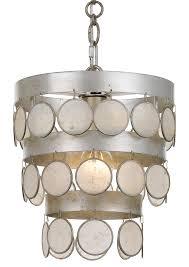 crystorama coco 1 light antique silver mini chandelier