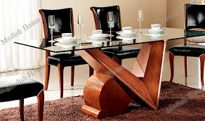 fashion design wood dining table with glass top set whole larger image
