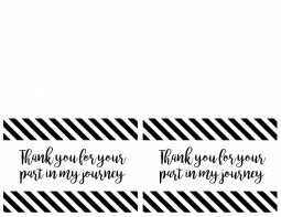 Printable Thank You Formatted Templates Example