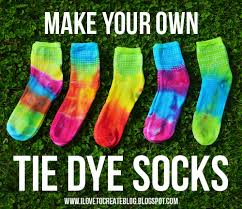 make your own tie dye socks