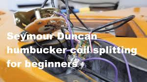 seymour duncan humbucker coil splitting wiring for beginners youtube How To Determine Wire Colors For Humbuckers seymour duncan humbucker coil splitting wiring for beginners
