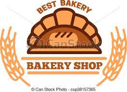 Organic Bakery Shop Symbol With Brick Oven Bread Brick Oven Bread