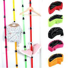 8 hooks adjule baseball cap rack hat holder clothes organizer storage door closet hanger diy