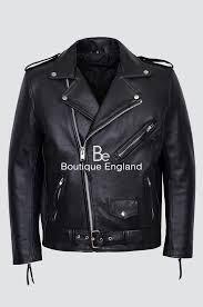 brando m fringe black men s motorcycle biker cowhide real rock leather jacket