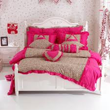 pink cheetah print bedding textile bedding set ruffle rustic wedding leopard duvet cover mattress plus queen
