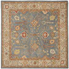 safavieh antiquity blueivory  ft x  ft square area rugata