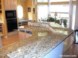 santa cecelia granite granite light cost santa cecilia granite countertops with oak cabinets