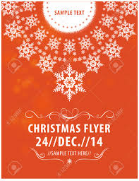 vector christmas flyer poster template snowflakes in the circle vector vector christmas flyer poster template snowflakes in the circle