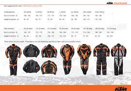Ktm Jacket Size Chart