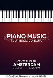 Concert Poster Design Piano Concert Poster Design Live Music Concert Piano Keys Vector Illustration