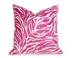 Pink Zebra Print Decorative Pillows